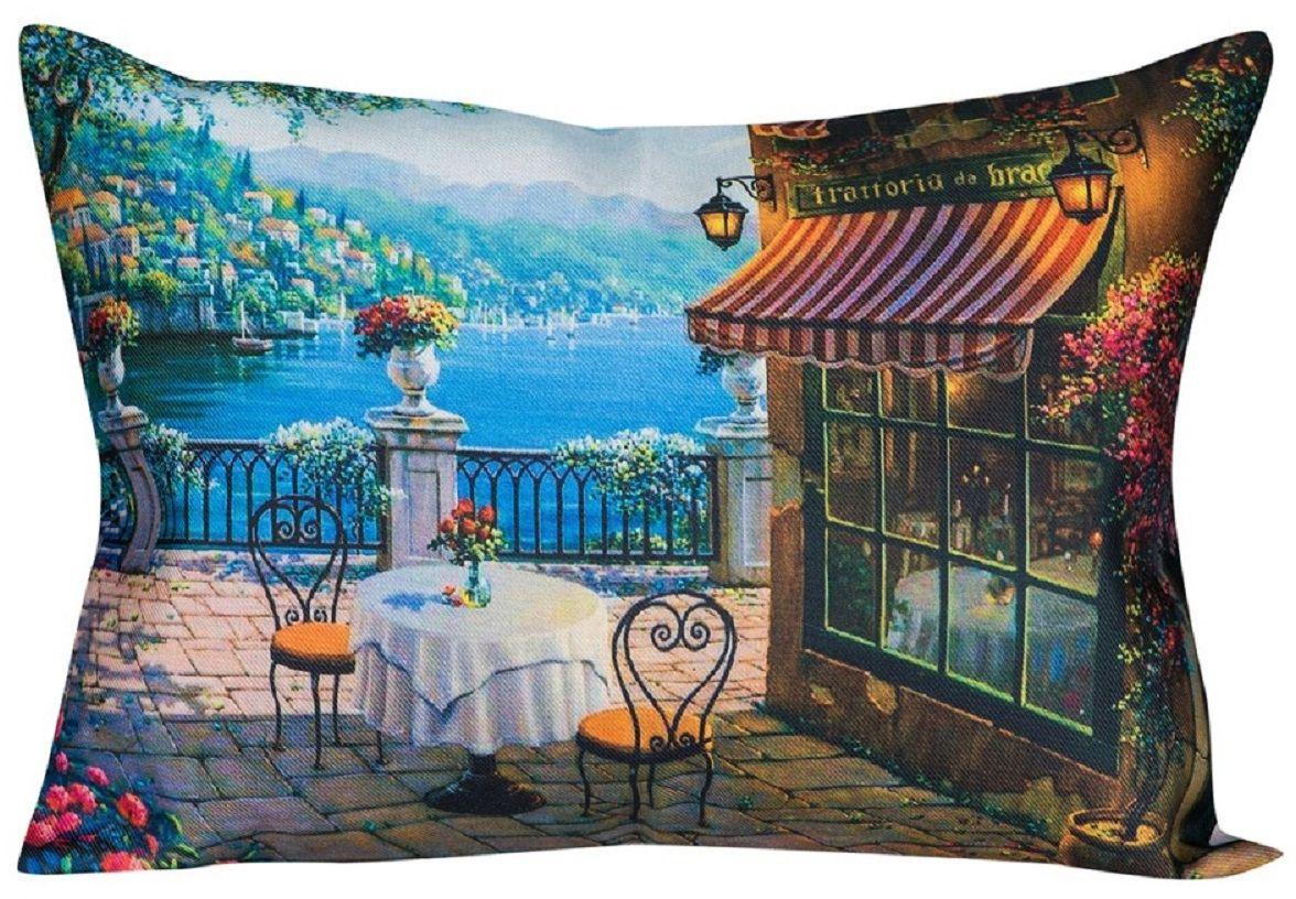 Наволочка декоративная Рапира Кафе на берегу, 45 х 65 см подушка декоративная рапира сладкого настроения 45 х 45 см