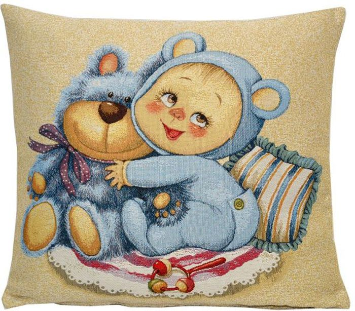 цена на Подушка декоративная Рапира Мамино счастье. Медвежонок, 33 х 33 см