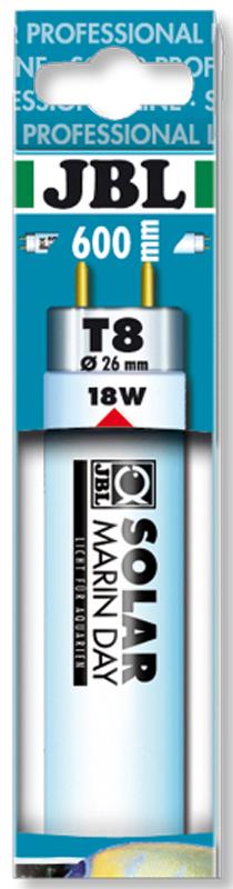 Лампа люминесцентная JBL Solar Marin Day, дневного белого цвета, для морских аквариумов, Т8, 18 Вт, 15000 К лампа sera precision daylight brilliant люминесцентная т8 38вт 105см для аквариумов