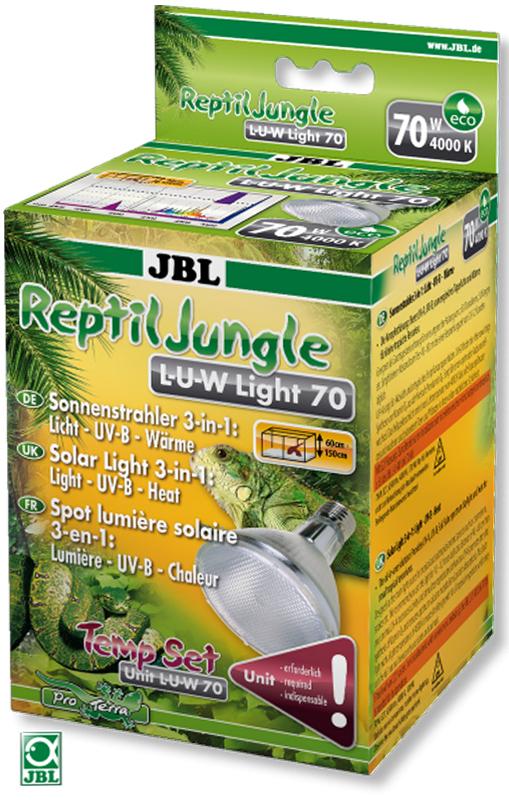Лампа JBL ReptilJungle L-U-W Light 70W, металлогалогенная, для освещения и обогрева тропических террариумов, 70 Вт u w boÿens rauhaargeschichten