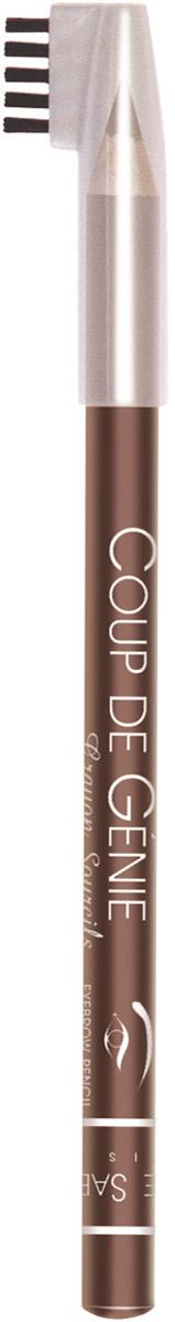 Vivienne Sabo Карандаш для бровей Coup de Genie, тон №001, темно-коричневый, 1,4 г фелисити фила peripera 1 быстрая автоматическая карандаш для бровей темно коричневый 0 14 г легко цветной макияж не цветущие