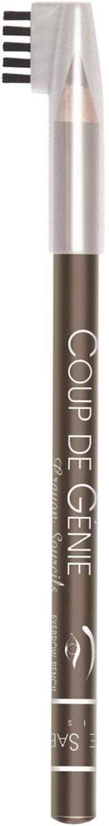 Vivienne Sabo Карандаш для бровей Coup de Genie, тон №002, цвет: светло-коричневый, 0,9 г lavellecollection карандаш для бровей вр 01 тон 01 светло коричневый 1 3 г
