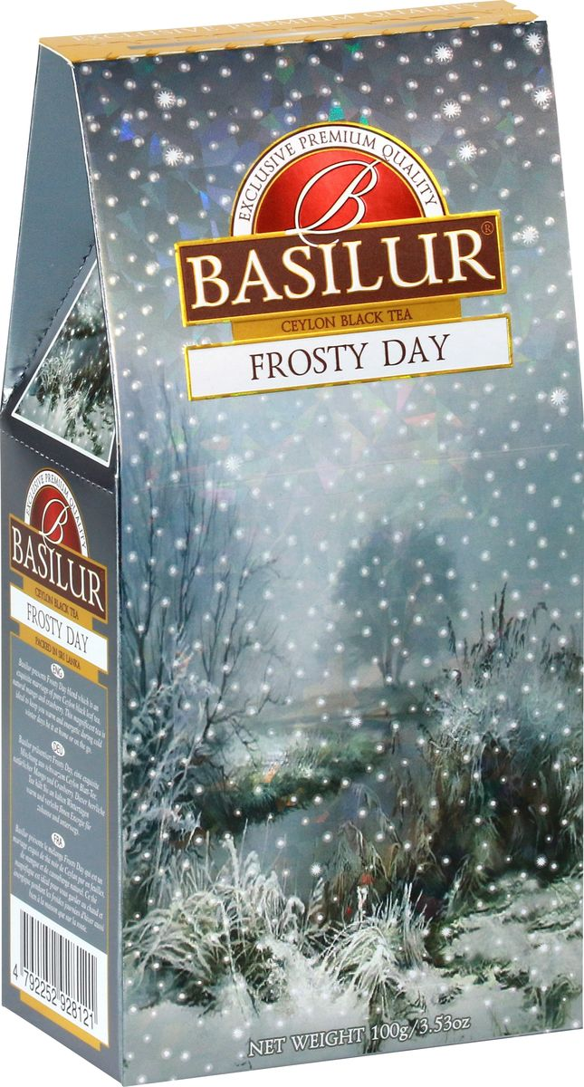 Basilur Frosty Day черный листовой чай, 100 г basilur frosty evening черный листовой чай 100 г