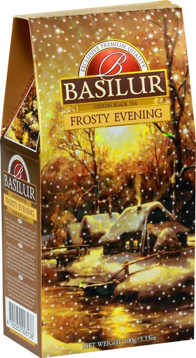Basilur Frosty Evening черный листовой чай, 100 г basilur persian earl grey чай черный листовой с бергамотом 100 г