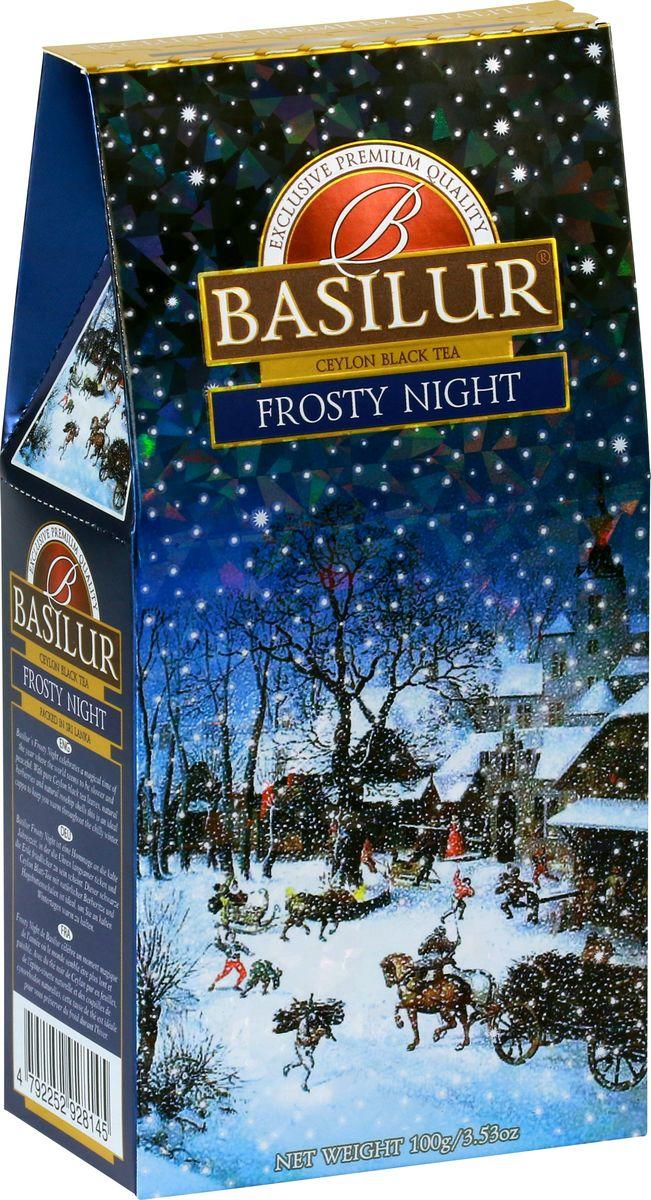 Basilur Frosty Night черный листовой чай, 100 г teabreez волшебная ночь чай листовой 100 г
