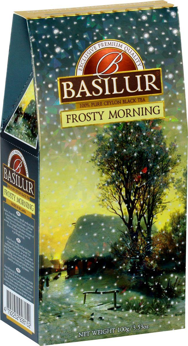 Basilur Frosty Morning черный листовой чай, 100 г basilur frosty evening черный листовой чай 100 г