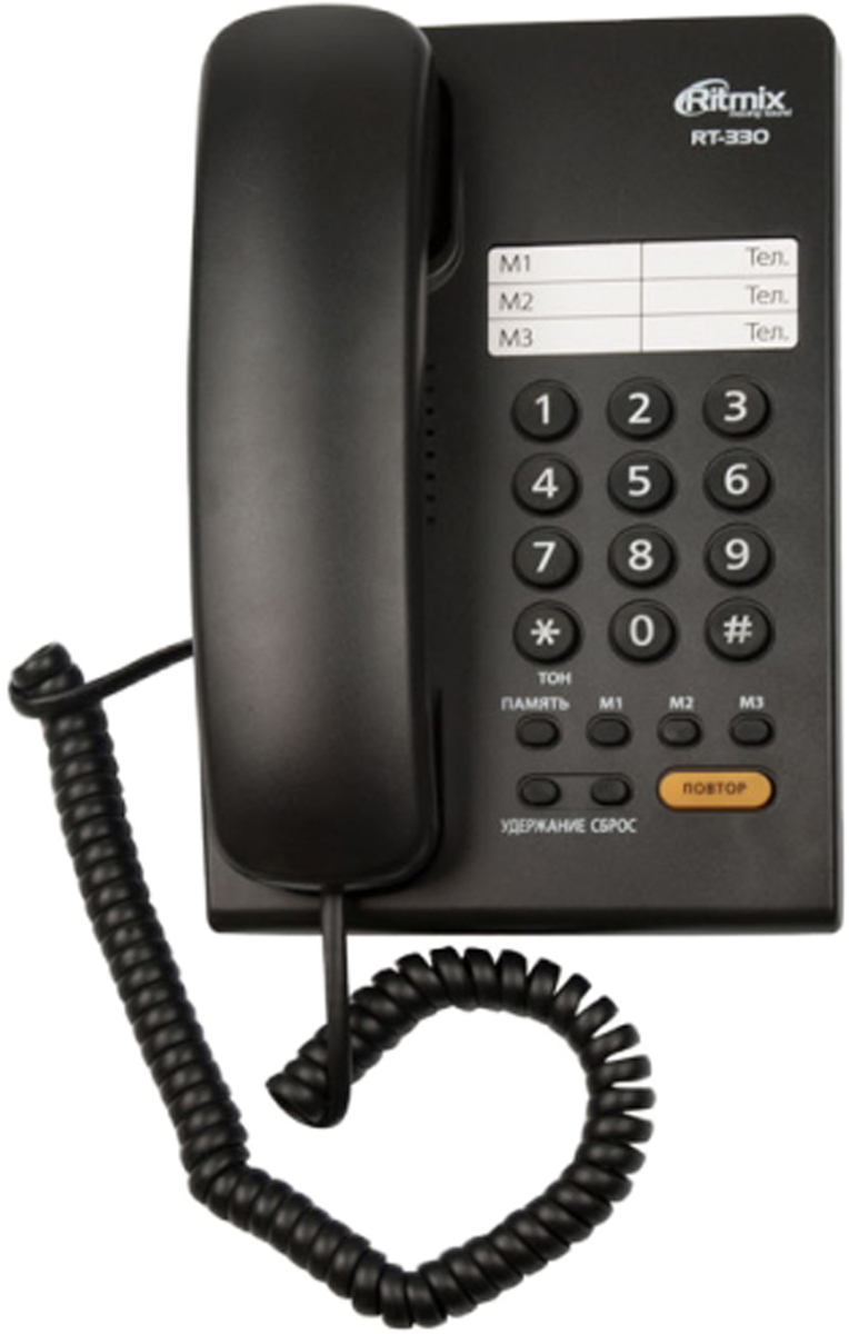 Ritmix RT-330, Blackтелефон Ritmix