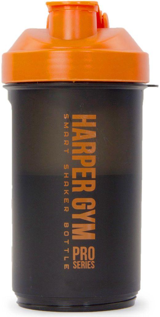 Шейкер Harper Gym Smart, цвет: черный, оранжевый. 336297 шейкер harper gym shaker bottle с венчиком цвет голубой 500 мл