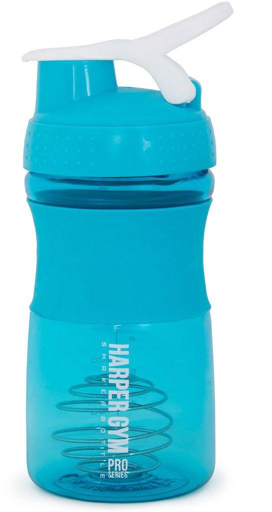 Шейкер Harper Gym Shaker Bottle, с венчиком, цвет: голубой, 500 мл шейкер harper gym shaker bottle с венчиком цвет голубой 500 мл