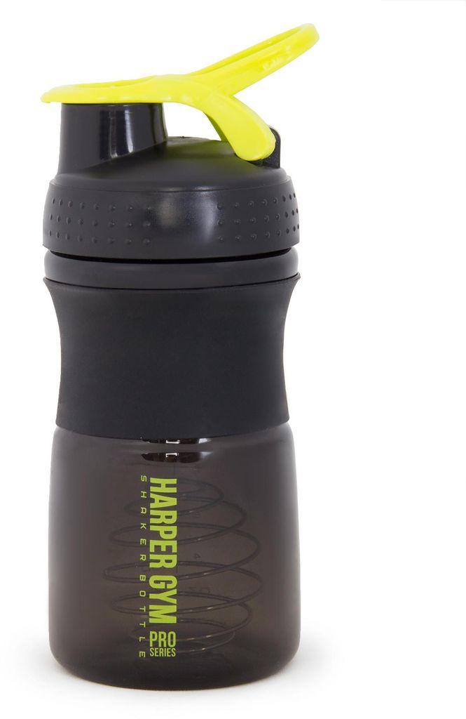 Шейкер Harper Gym Shaker Bottle, с венчиком, цвет: черный, 500 мл шейкер harper gym shaker bottle с венчиком цвет голубой 500 мл