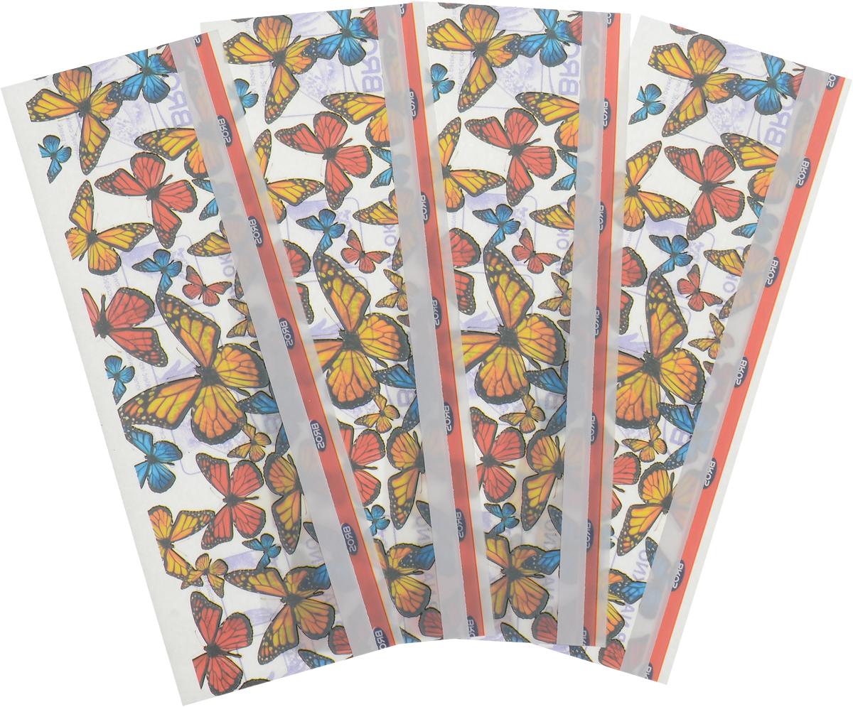 Полоска от мух BROS, на окно, декор, 4 шт лента липкая от мух bros 4 шт