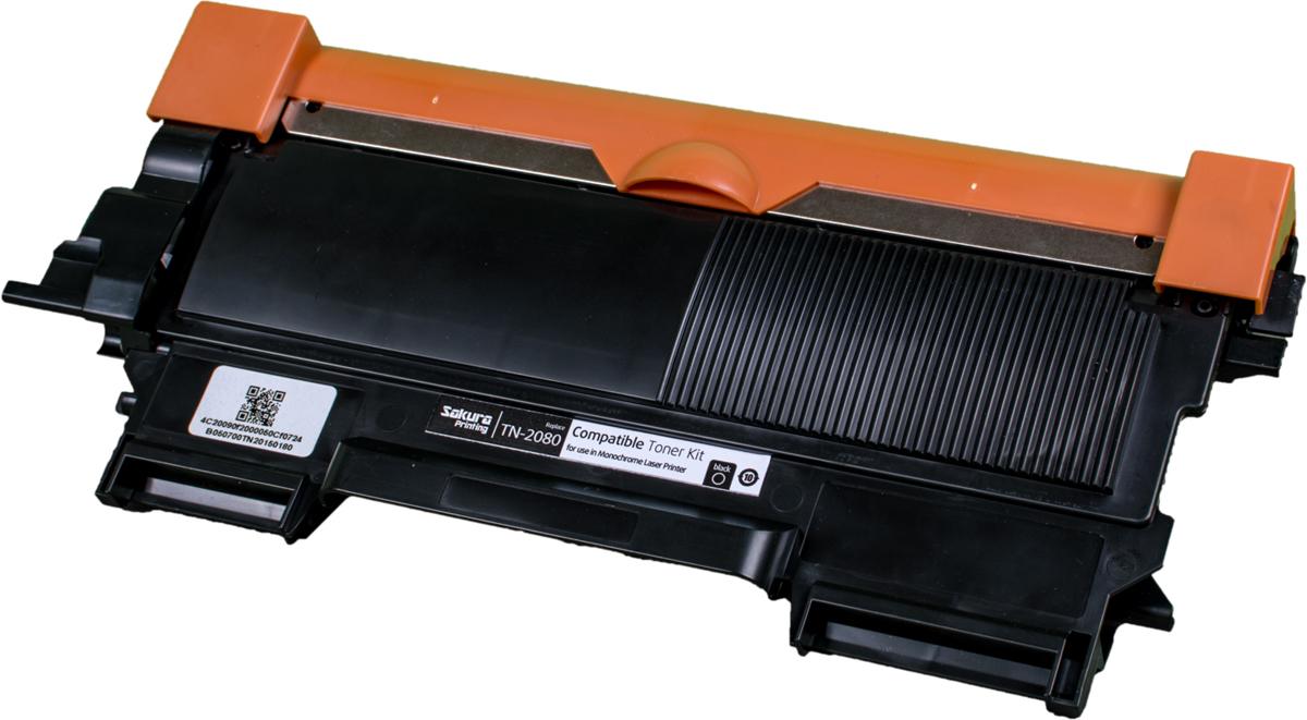 Sakura TN2080, Black тонер-картридж для Brother HL-2130R/DCP-7055R