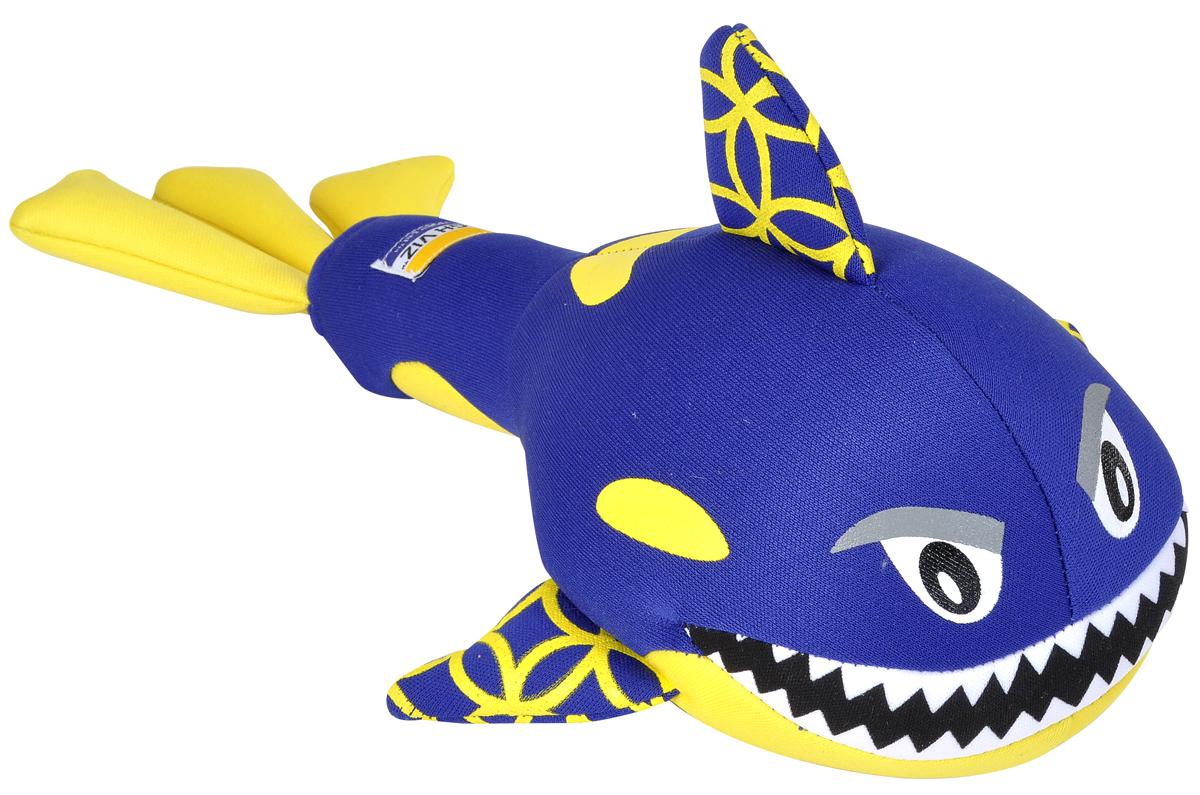 Игрушка для собак Camon HighViz. Кит, с пищалкой, цвет в ассортименте, длина 30 см игрушка для собак camon рыбка с пищалкой цвет белый красный 10 х 6 х 6 3 см