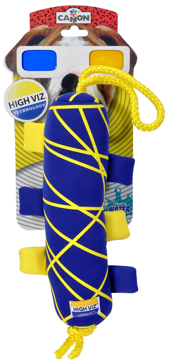 Игрушка для собак Camon High VIZ. Апорт, с пищалкой, 23 х 11 х 6 см. AH503/E игрушка для собак kong косточка средняя с пищалкой цвет фиолетовый 15 5 х 6 5 х 3 5 см