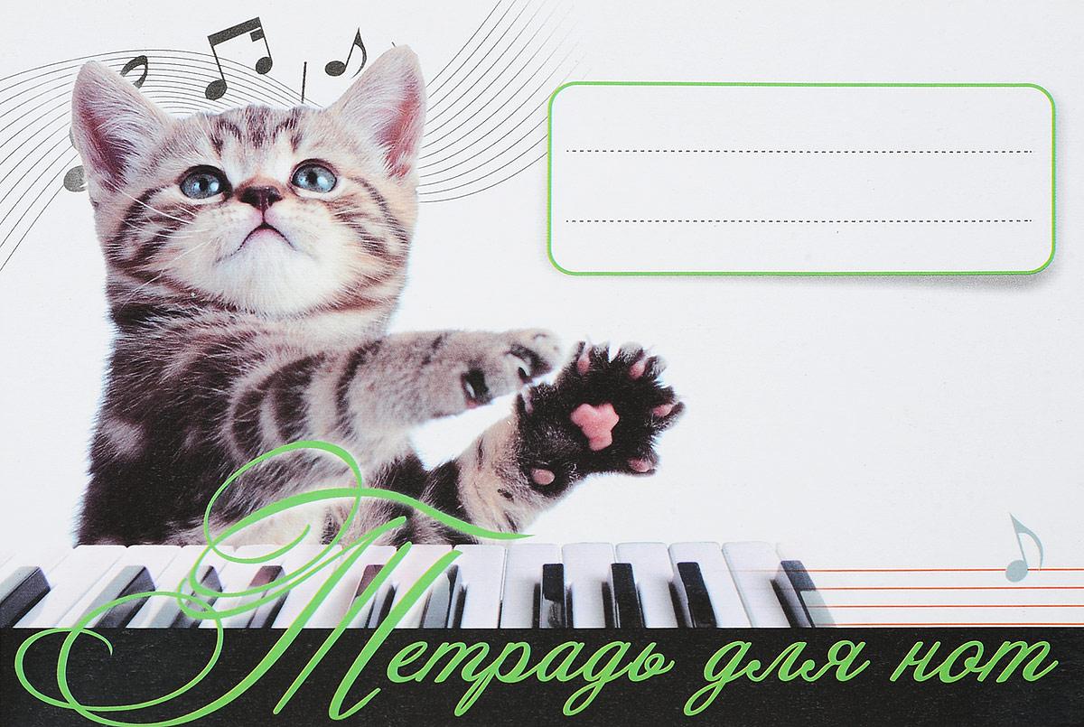 Тетрадь для нот тетрадь для нот котёнок 4