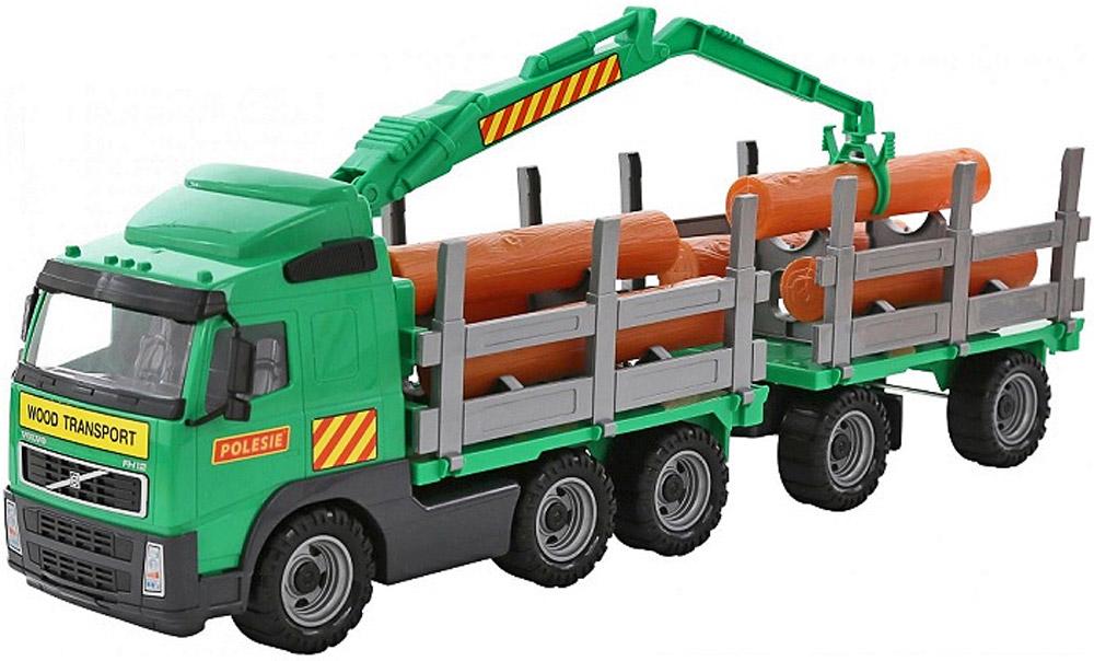 Полесье Лесовоз с прицепом Volvo цвет в ассортименте лесовоз с прицепом полесье volvo