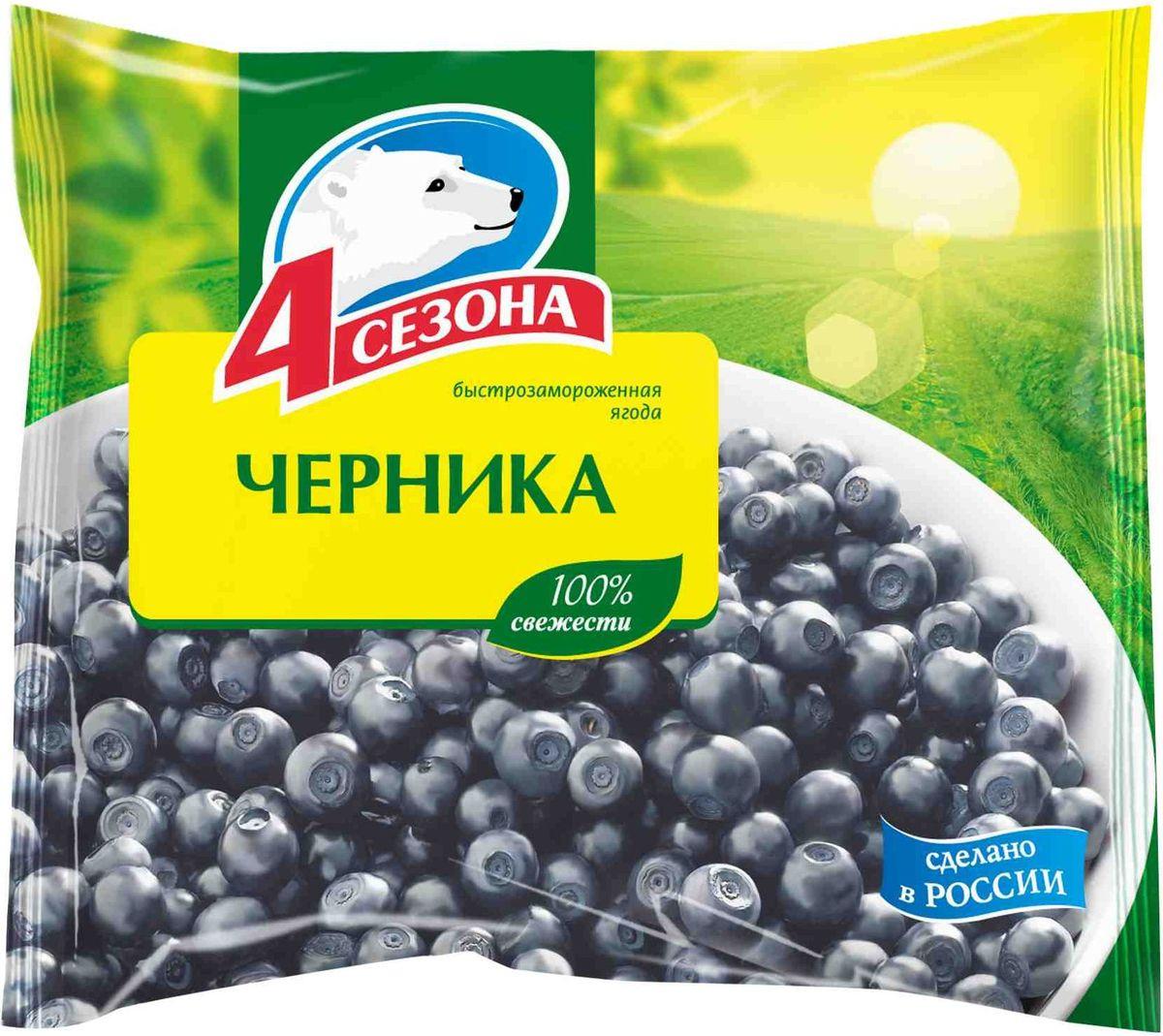 4 Сезона Черника, 300 г 4 сезона клубника 300 г