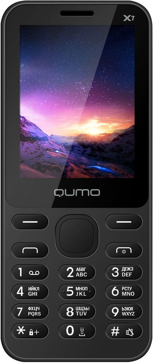 Мобильный телефон Qumo Push X7, черный