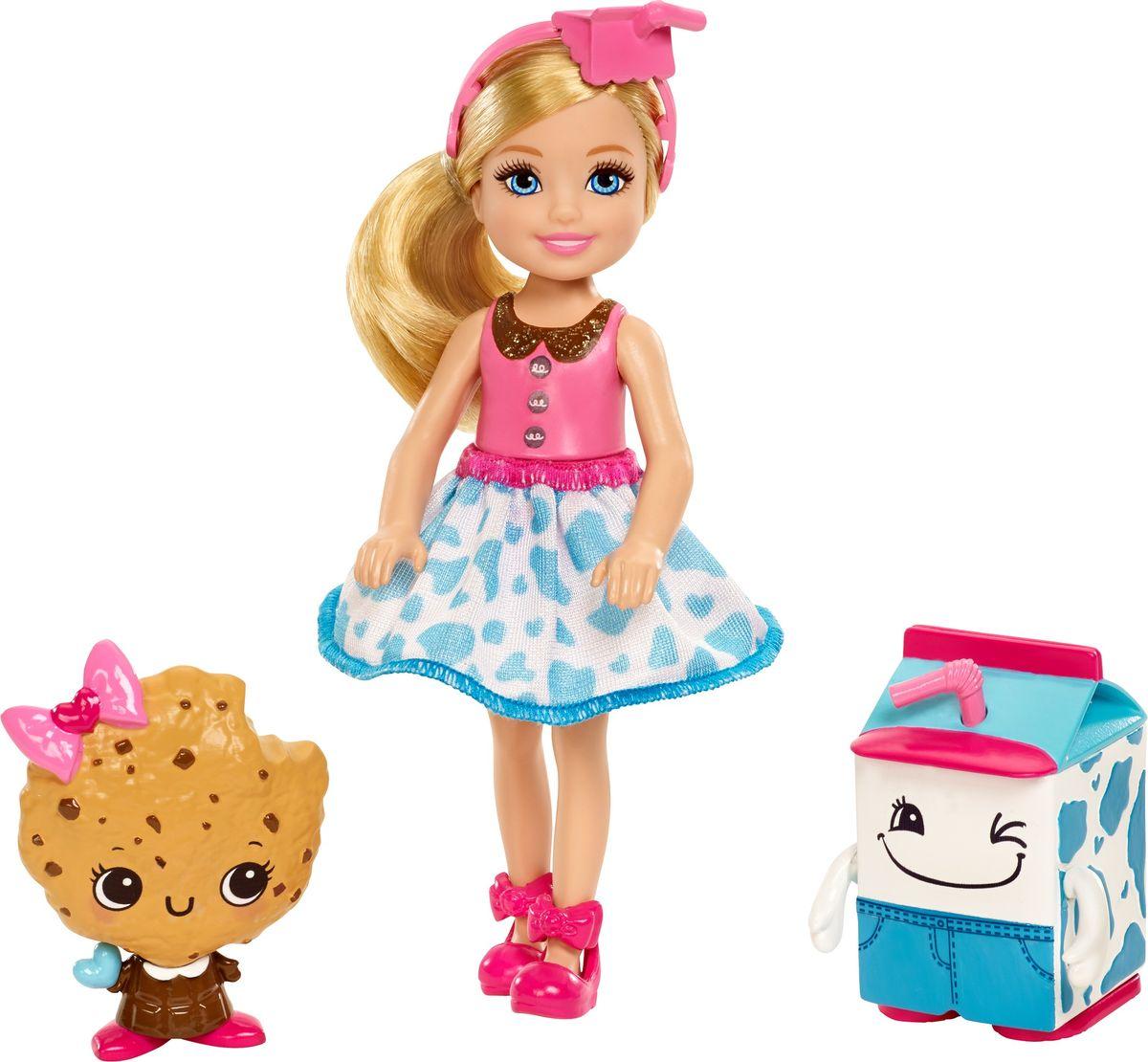 Barbie Кукла Челси и сладости цвет платья голубой розовый