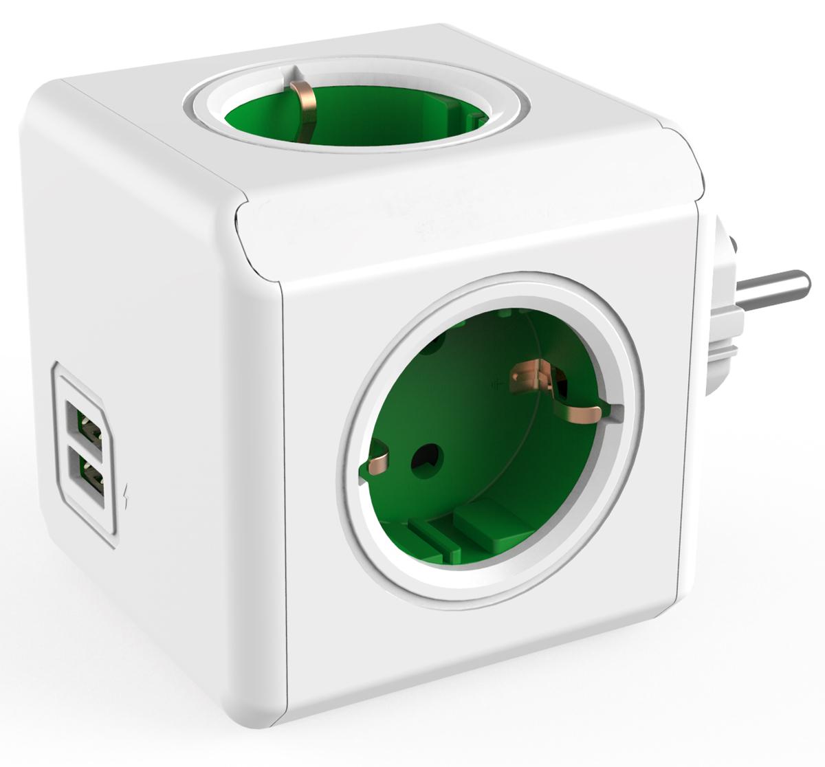 Allocacoc Original USB, Green сетевой разветвитель