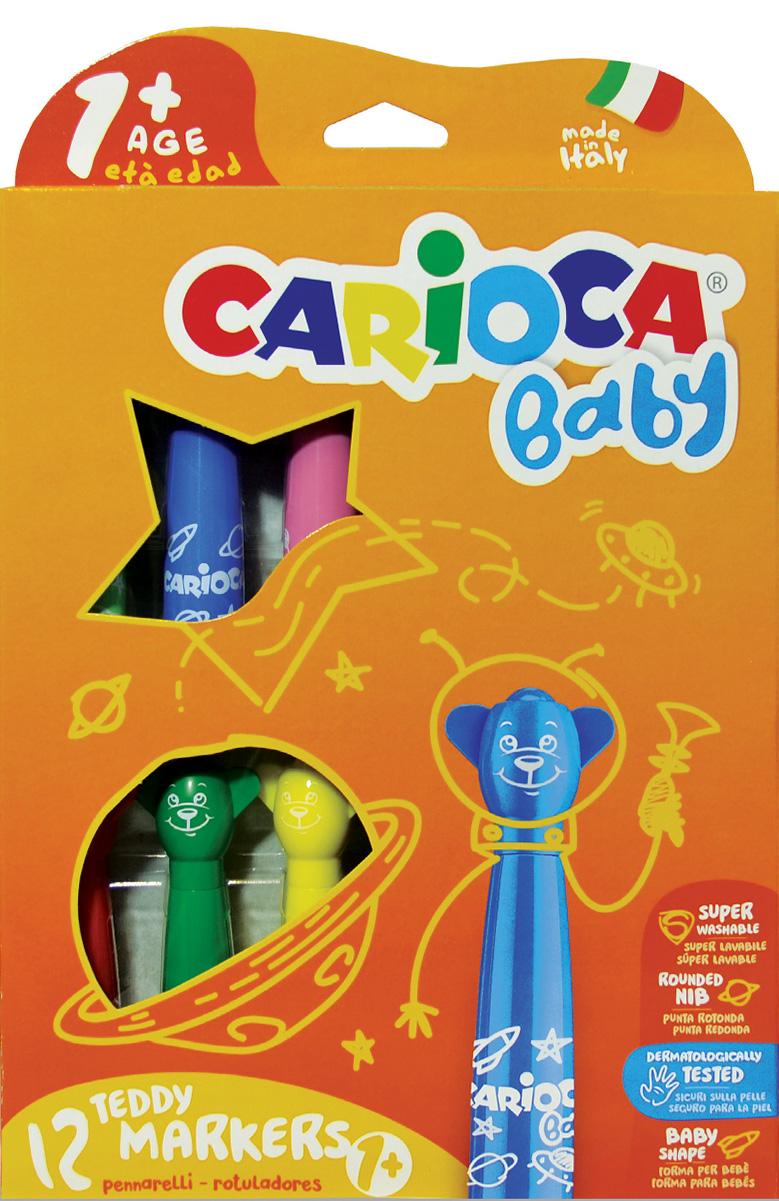 Carioca Набор смываемых фломастеров Baby Jimbo 6 цветов