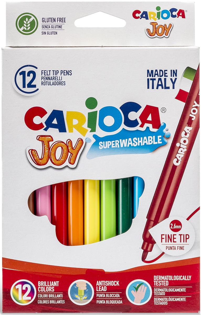 Carioca Набор фломастеров Joy 12 цветов carioca набор фломастеров carioca joy 60 цв в чемоданчике картонном