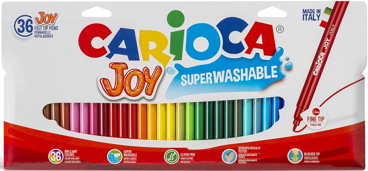 Carioca Набор фломастеров Superwashable 36 цветов carioca набор фломастеров neon 8 цветов