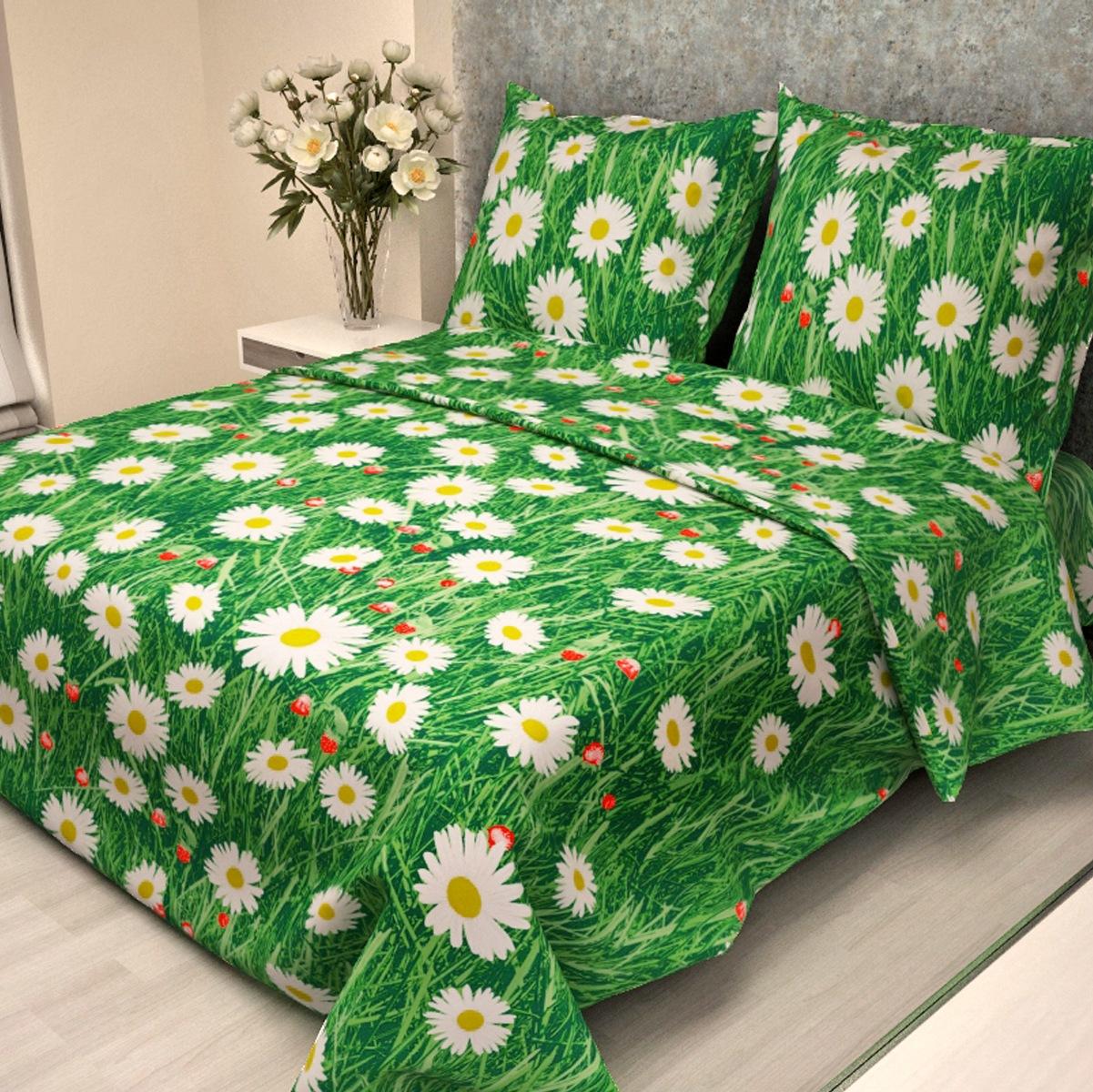 """Комплект постельного белья Letto """"Традиция"""", 1,5 спальный, наволочки 70 x 70 см, цвет: зеленый. B116-3"""