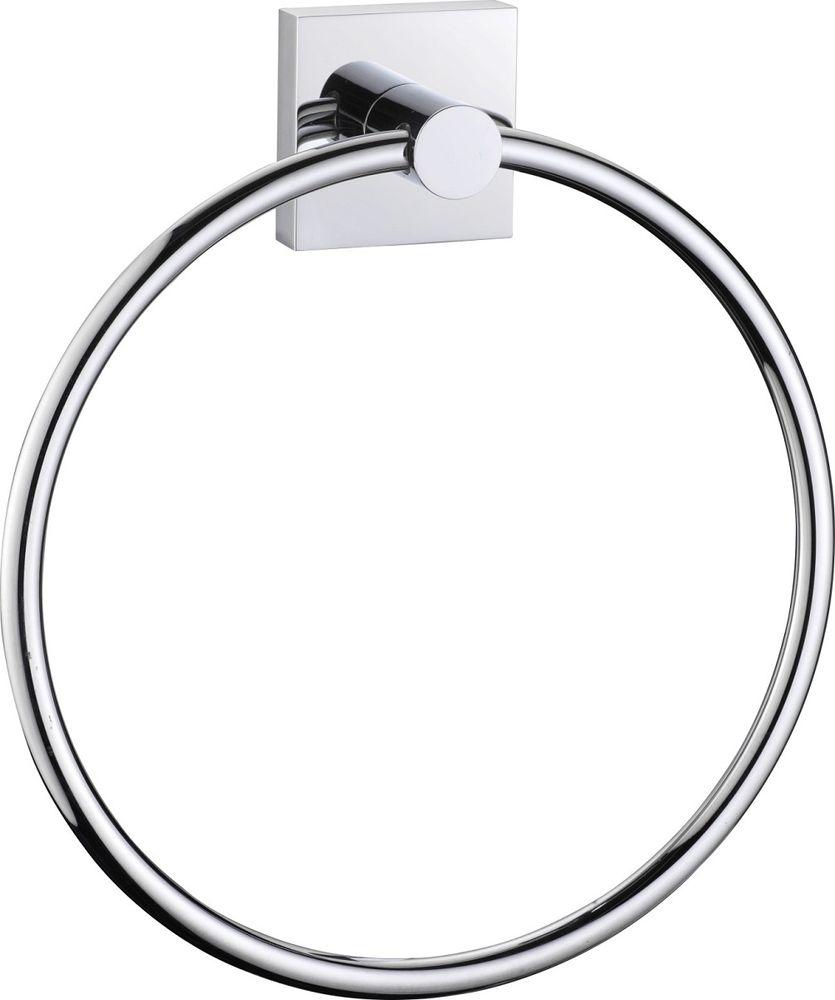 Полотенцедержатель кольцо Milardo Amur штанга для полотенца milardo amur хром 60x7 см amusm10m49