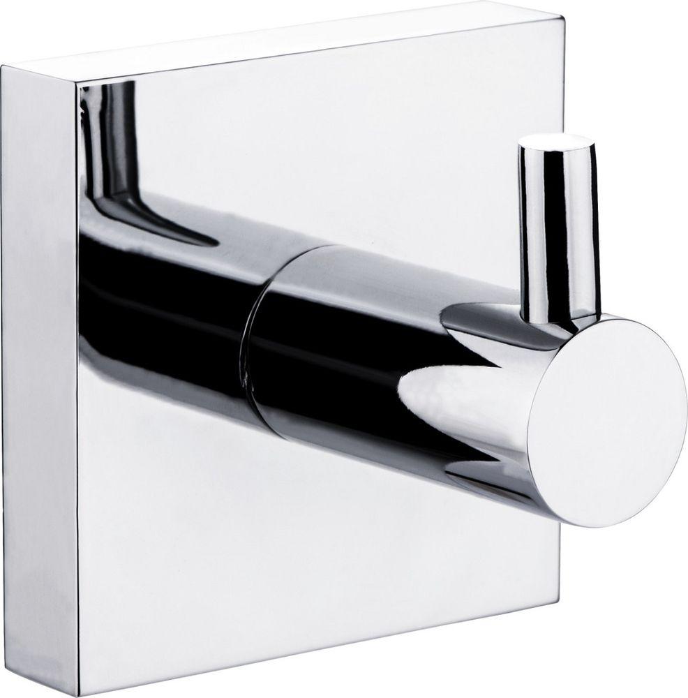 """Крючок для ванной Milardo """"Amur"""", одинарный, цвет: серый металлик"""