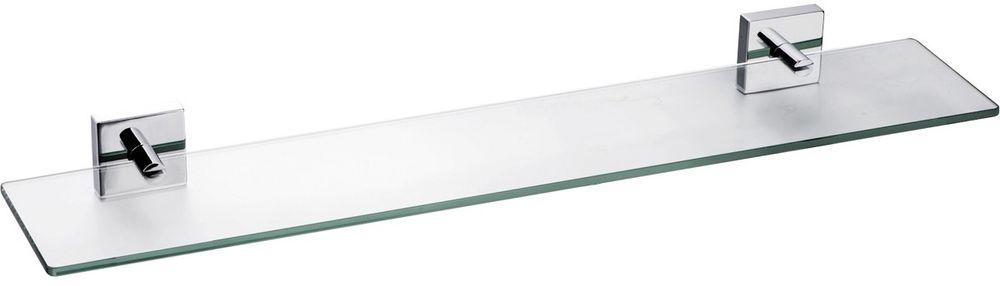 Полка для ванной комнаты Milardo Amur, стеклянная полка milardo amur amusmg0m44