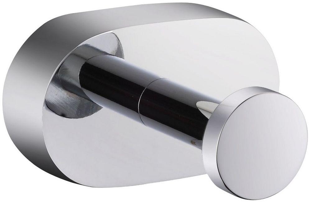 """Крючок для ванной Milardo """"Solomon"""", одинарный, цвет: серый металлик"""
