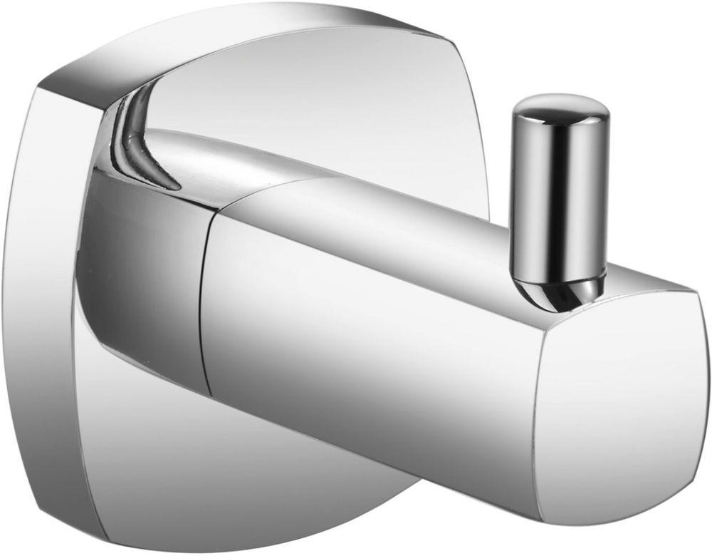 """Крючок для ванной Milardo """"Volga"""", одинарный, цвет: серый металлик"""