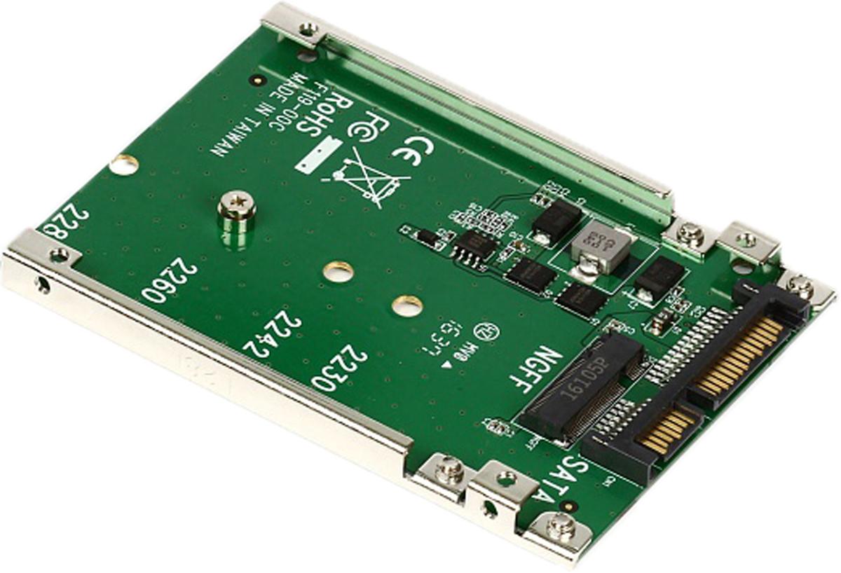SmartBuy DT-119 переходник-конвертер для M.2 NGFF SATA SSD в 2.5 7mm SATA переходник sata 8 pin