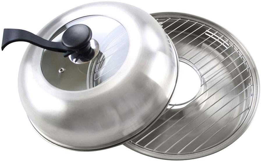 Сковорода Гриль-газ, с крышкой, со съемной ручкой. Диаметр 33 см. D-519