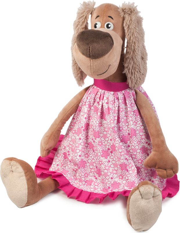 Maxitoys Luxury Мягкая игрушка Собачка Зиночка в платье 25 см мягкие игрушки maxitoys собачка зиночка в платье