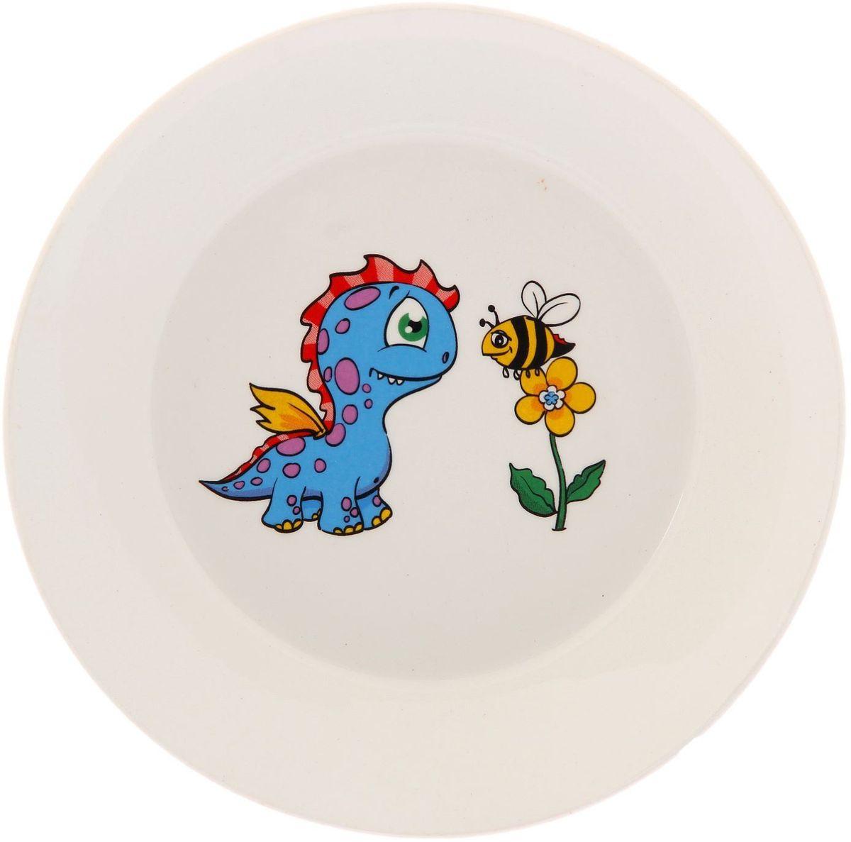 Кубаньфарфор Блюдце Динозаврики