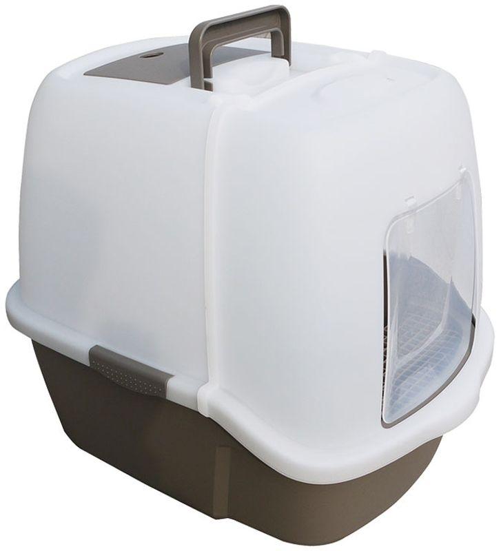 Туалет для кошек Triol, закрытый, c совком и сеткой, 51,3 х 38,8 х 43,3 см туалет для кошек curver pet life закрытый цвет кремово коричневый 51 х 39 х 40 см