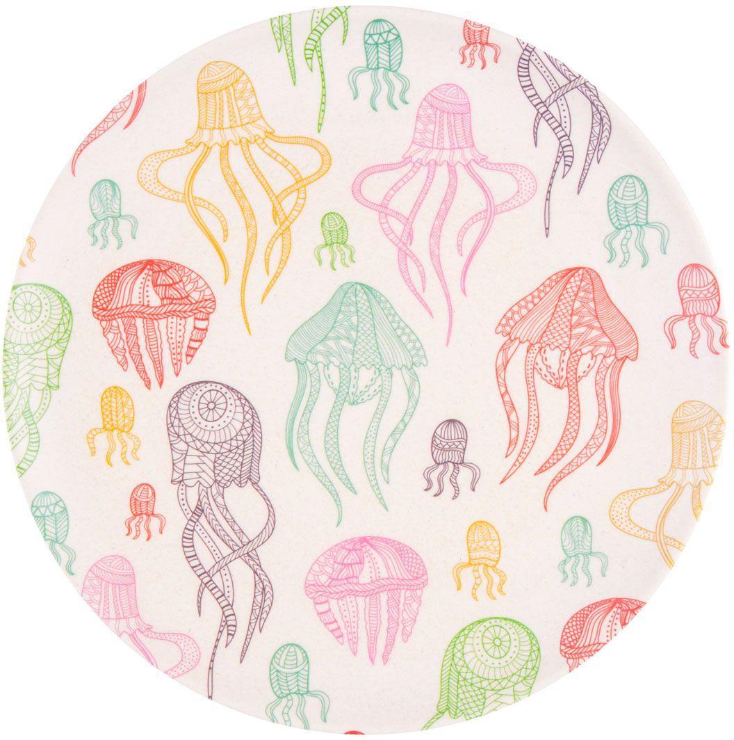 Тарелка обеденная EcoWoo Фиш & Фан эллифиш, диаметр 25 см ecowoo