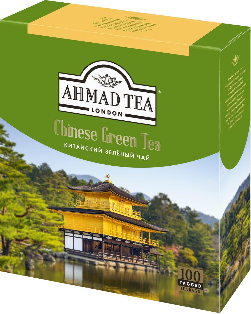 Ahmad Tea Chinese Green Tea зеленый чай в пакетиках, 100 шт