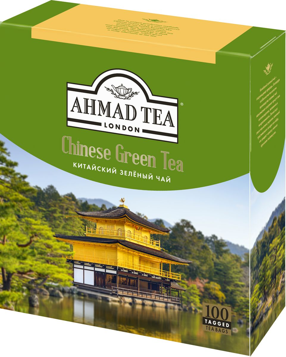 Ahmad Tea Chinese Green Tea зеленый чай в пакетиках, 100 шт high quality black tea flavor pu er waxy fragrant ripe tea slimming pu er green food 2016 new chinese mini yunnan puerh tea