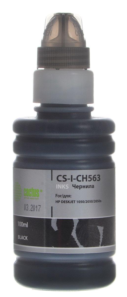 Cactus CS-I-CH563, Black чернила для HP DeskJet 1050/2050/2050s for hp 122 black ink cartridge for hp 122 xl deskjet 1000 1050 2000 2050 3000 3050a 3052a printer