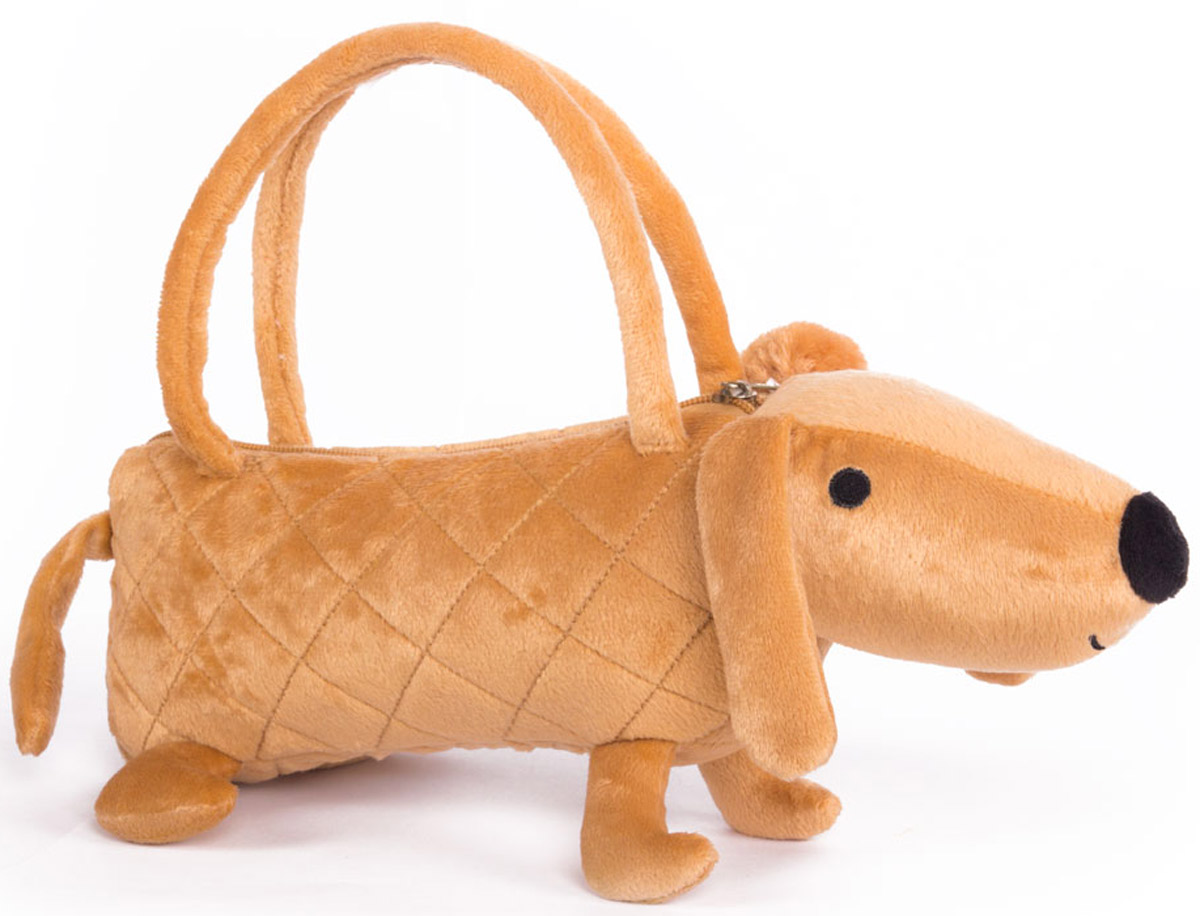 Button Blue Мягкая игрушка Собачка-сумочка цвет коричневый 35 см