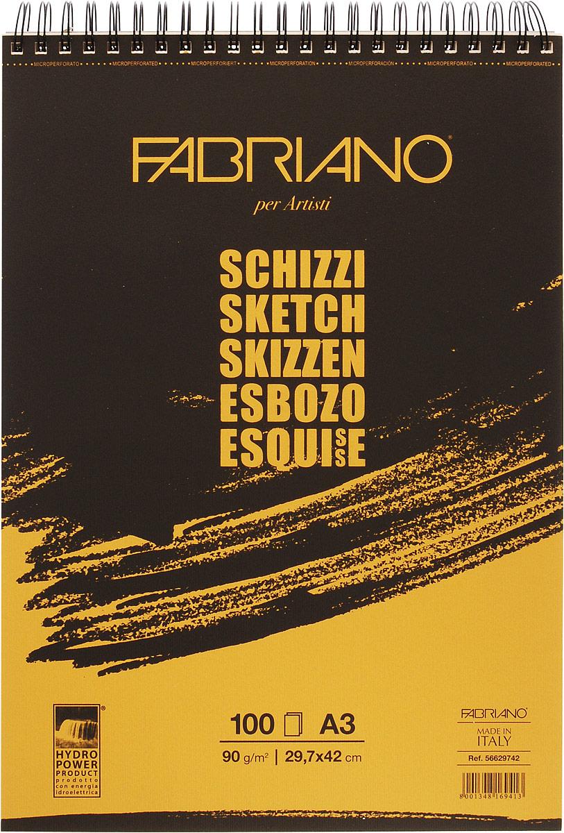 Fabriano Блокнот для зарисовок Schizzi 100 листов 56629742