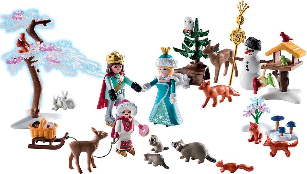 Playmobil Игровой набор-календарь Королевское турне по фигурному катанию фигурки игрушки playmobil зоопарк семья зебр