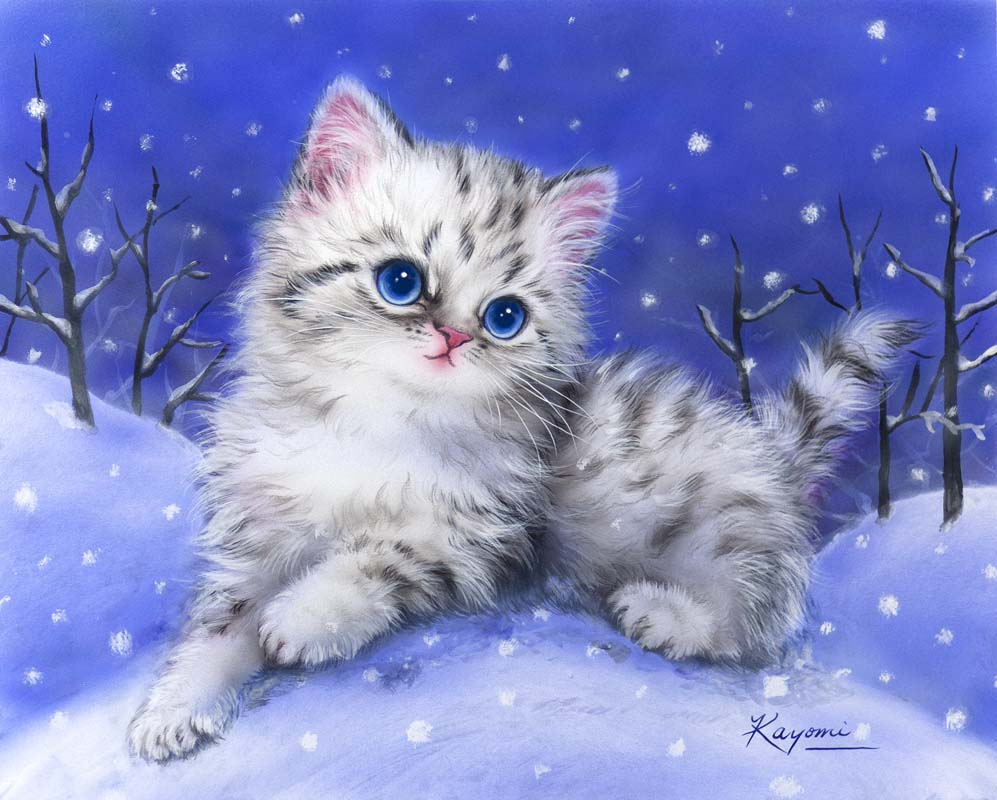 Открытки, открытка с снегом