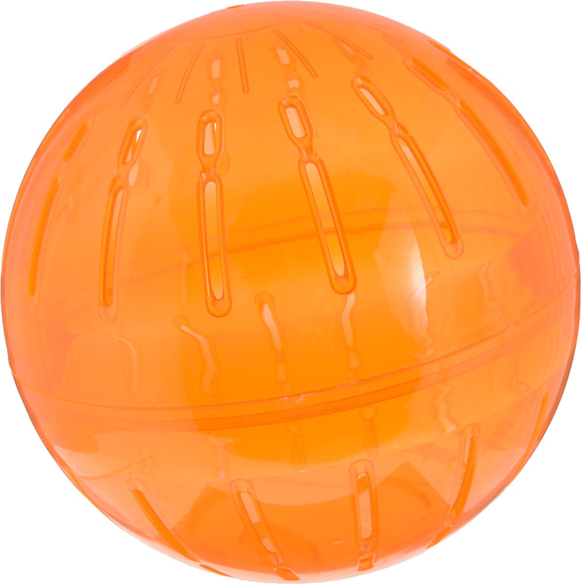 """Игрушка для грызунов Triol """"Шар прогулочный"""", цвет: оранжевый, диаметр 19 см"""