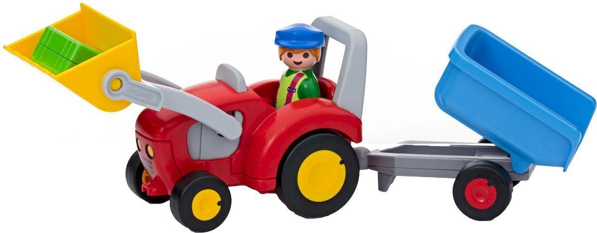 Playmobil Игровой набор Трактор с прицепом