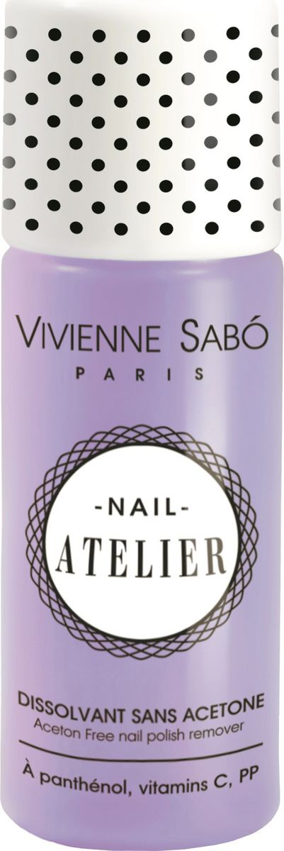 Vivienne Sabo Жидкость для снятия лака Nail Atelier без ацетона, 100 мл vivienne sabo gel laque nail atelier гель лак для ногтей тон 119 12 мл