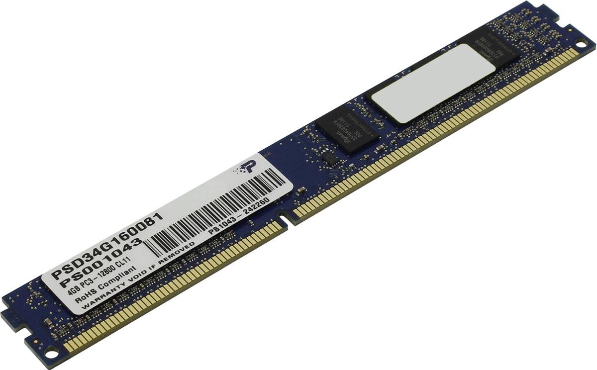 цена на Модуль оперативной памяти Patriot DDR3 DIMM 4GB 1600МГц (PSD34G160081)